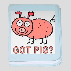 Got Pig baby blanket