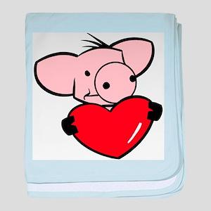 Love Pig baby blanket