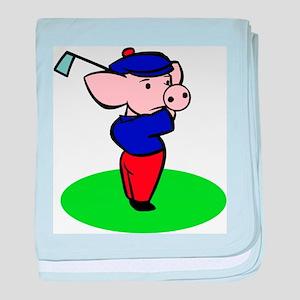 Golfing Pig baby blanket
