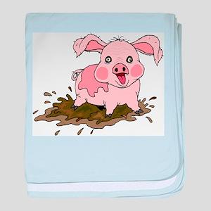 Naughty Pig baby blanket