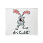 Got Rabbit? Throw Blanket