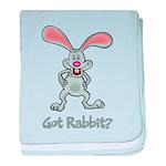 Got Rabbit? baby blanket