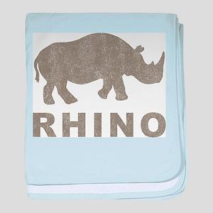 Vintage Rhino baby blanket