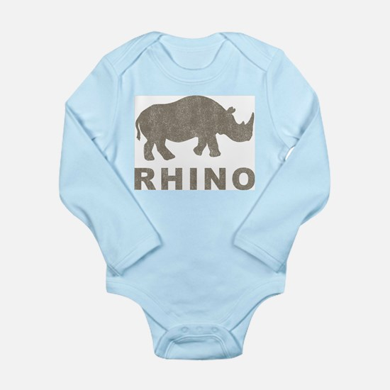 Vintage Rhino Onesie Romper Suit