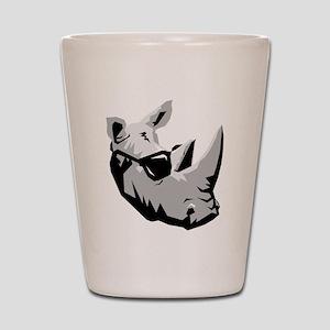 Cool Rhinoceros Shot Glass