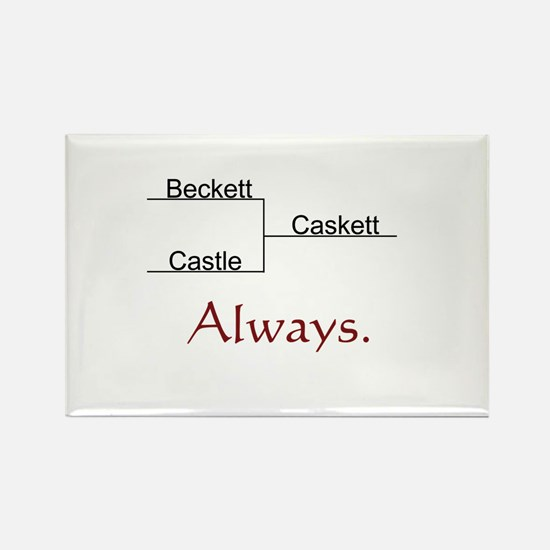 Beckett Castle Caskett Always Rectangle Magnet