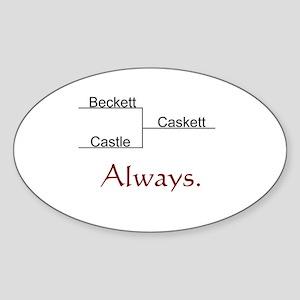Beckett Castle Caskett Always Sticker (Oval)