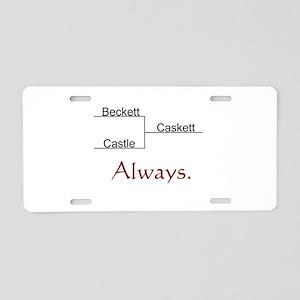 Beckett Castle Caskett Always Aluminum License Pla