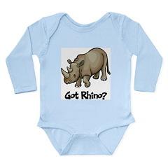 Got Rhino? Long Sleeve Infant Bodysuit