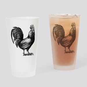 Hand Sketch Rooster Pint Glass