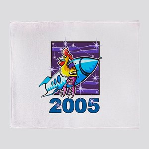 Space Rooster Throw Blanket