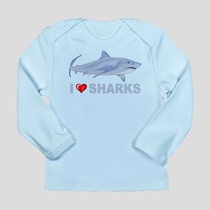I Love Sharks Long Sleeve Infant T-Shirt