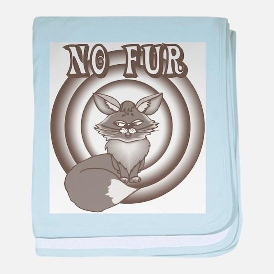 Retro No Fur baby blanket