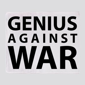 Genius Against War Throw Blanket