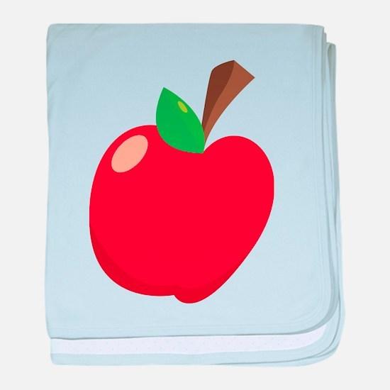 Apple baby blanket