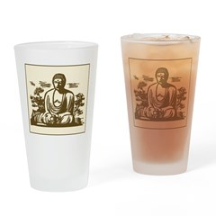 Retro Buddha Art Pint Glass