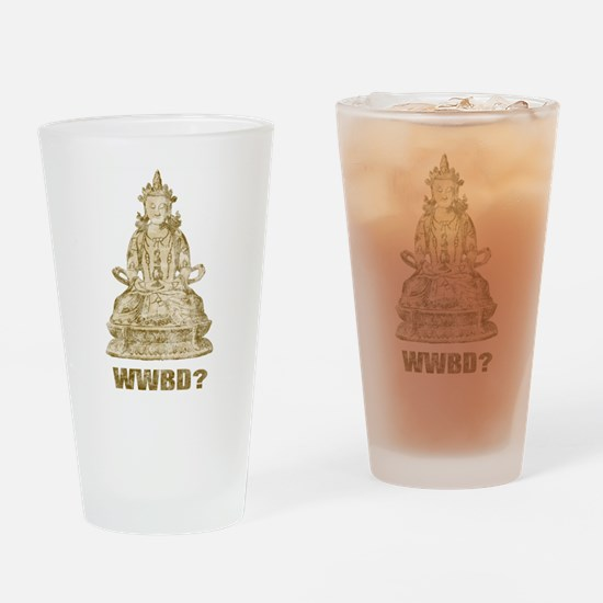 Vintage What Would Buddha Do? Pint Glass