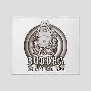 Retro Buddha Is My Homeboy Throw Blanket