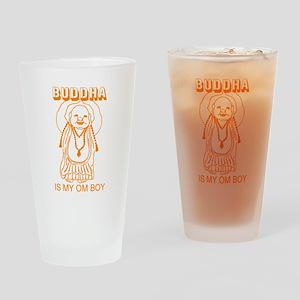 Retro Buddha Is My Om Boy Pint Glass