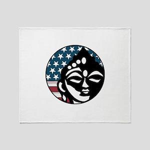 American Buddhist Throw Blanket
