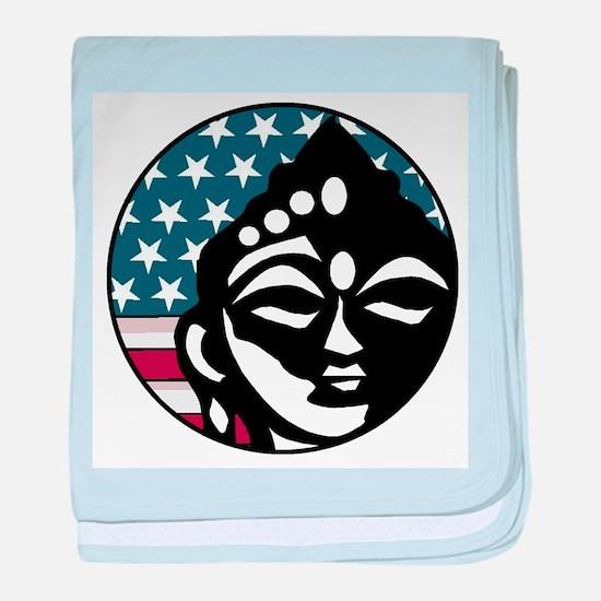 American Buddhist baby blanket
