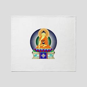Colorful Buddha Throw Blanket