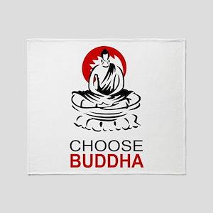 Choose Buddha Throw Blanket