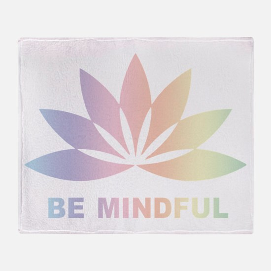Be Mindful Throw Blanket