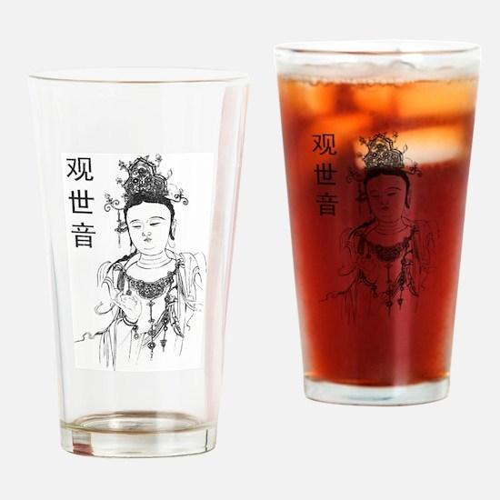 Vintage Guan Yin Pint Glass