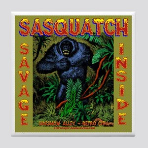 Sasquatch Tile Coaster