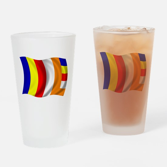 Wavy Buddhist Flag Pint Glass