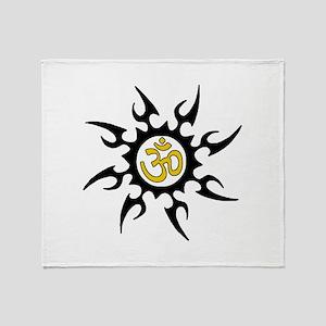 Tribal Om Throw Blanket