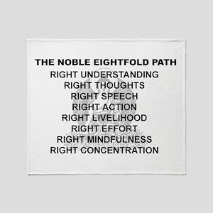 Noble Eightfold Path Throw Blanket