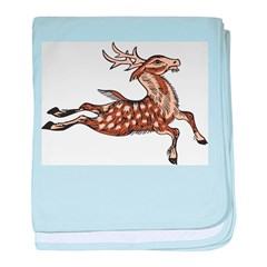Chinese Deer baby blanket