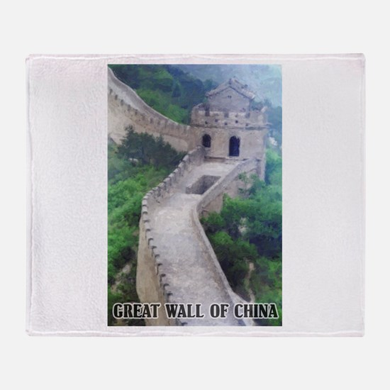 Great Wall Of China Throw Blanket