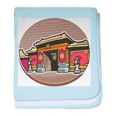Chinese Temple baby blanket