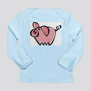 Cute Cartoon Pig Long Sleeve Infant T-Shirt