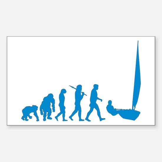 Dinghy Sailing Sticker (Rectangle)