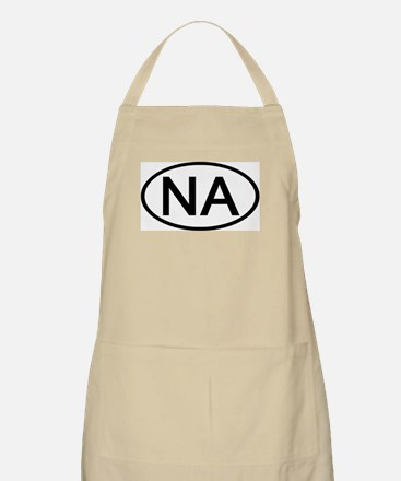 NA - Initial Oval BBQ Apron