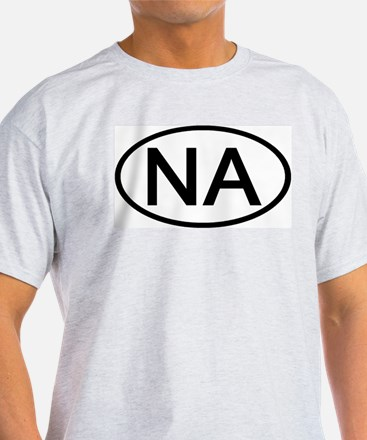 NA - Initial Oval Ash Grey T-Shirt