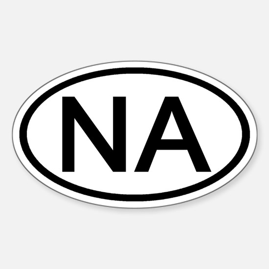 NA - Initial Oval Oval Decal