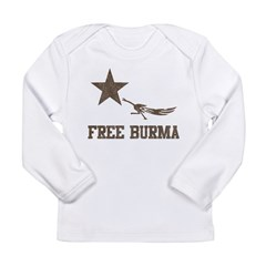Vintage Free Burma Long Sleeve Infant T-Shirt