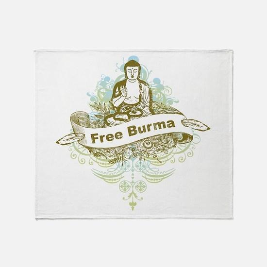 Buddha Free Burma Throw Blanket