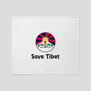 Save Tibet Throw Blanket