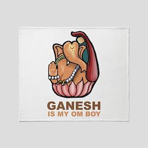 Ganesh Is My Om Boy Throw Blanket