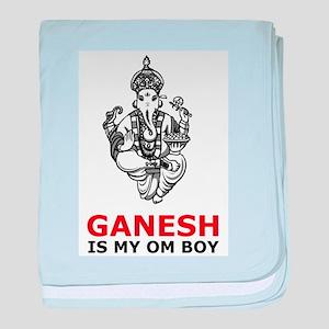 Hinduism Ganesh Is My Om Boy baby blanket