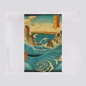 Hiroshige Navaro Rapids Throw Blanket