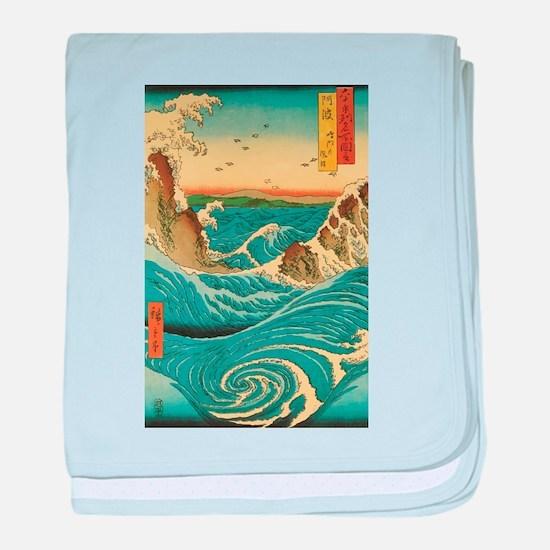 Hiroshige Navaro Rapids baby blanket
