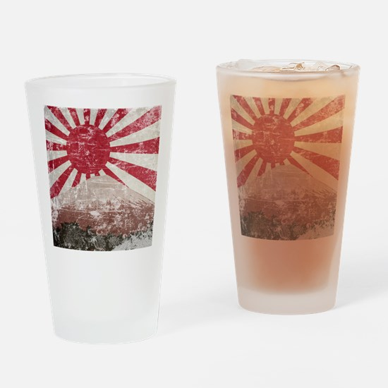 Vintage Mount Fuji Pint Glass
