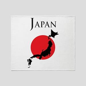Map Of Japan Throw Blanket